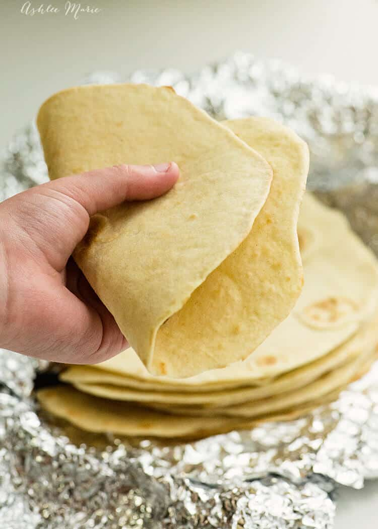 warm, soft flour tortillas are easy to make and oh so delicious - recipe and video tutorial