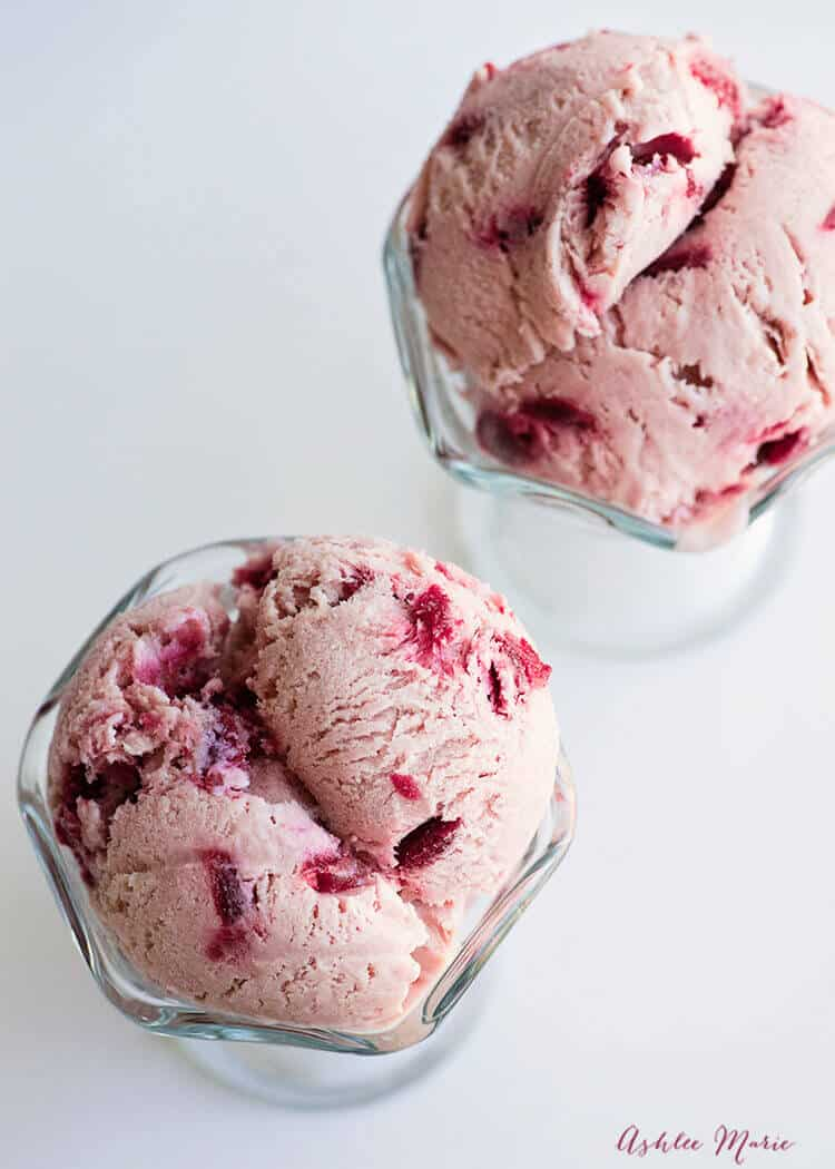 creamy almond cherry ice cream