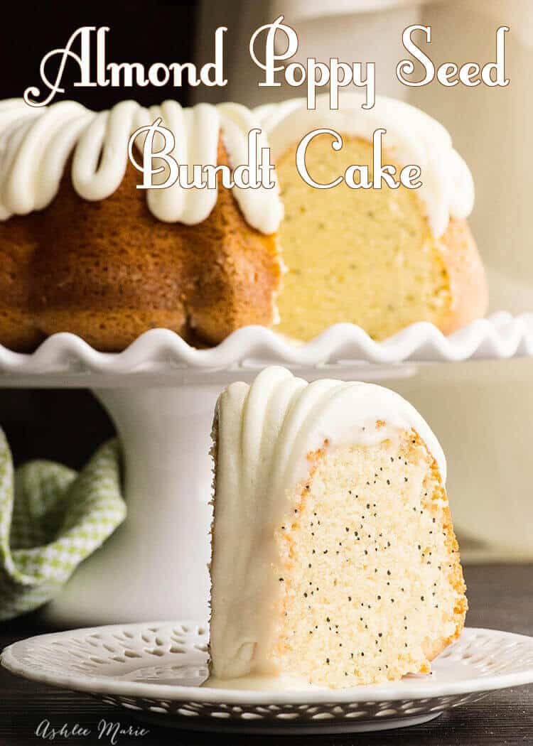 light and fluffy almond poppy seed bundt cake - recipe and video tutorial