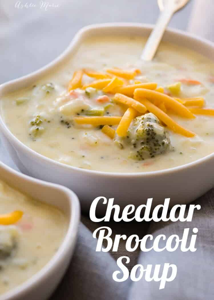 the best broccoli cheddar soup ever