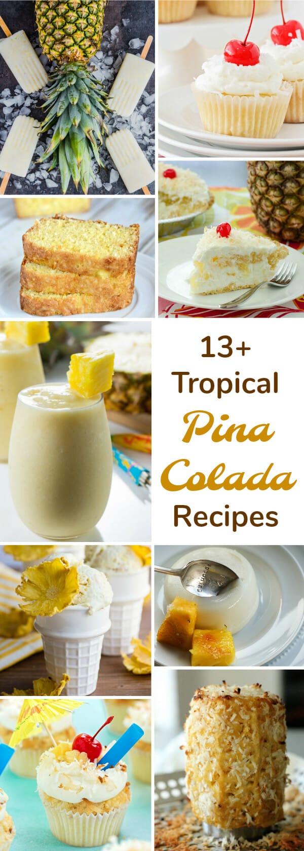 thirteen pina colada recipes