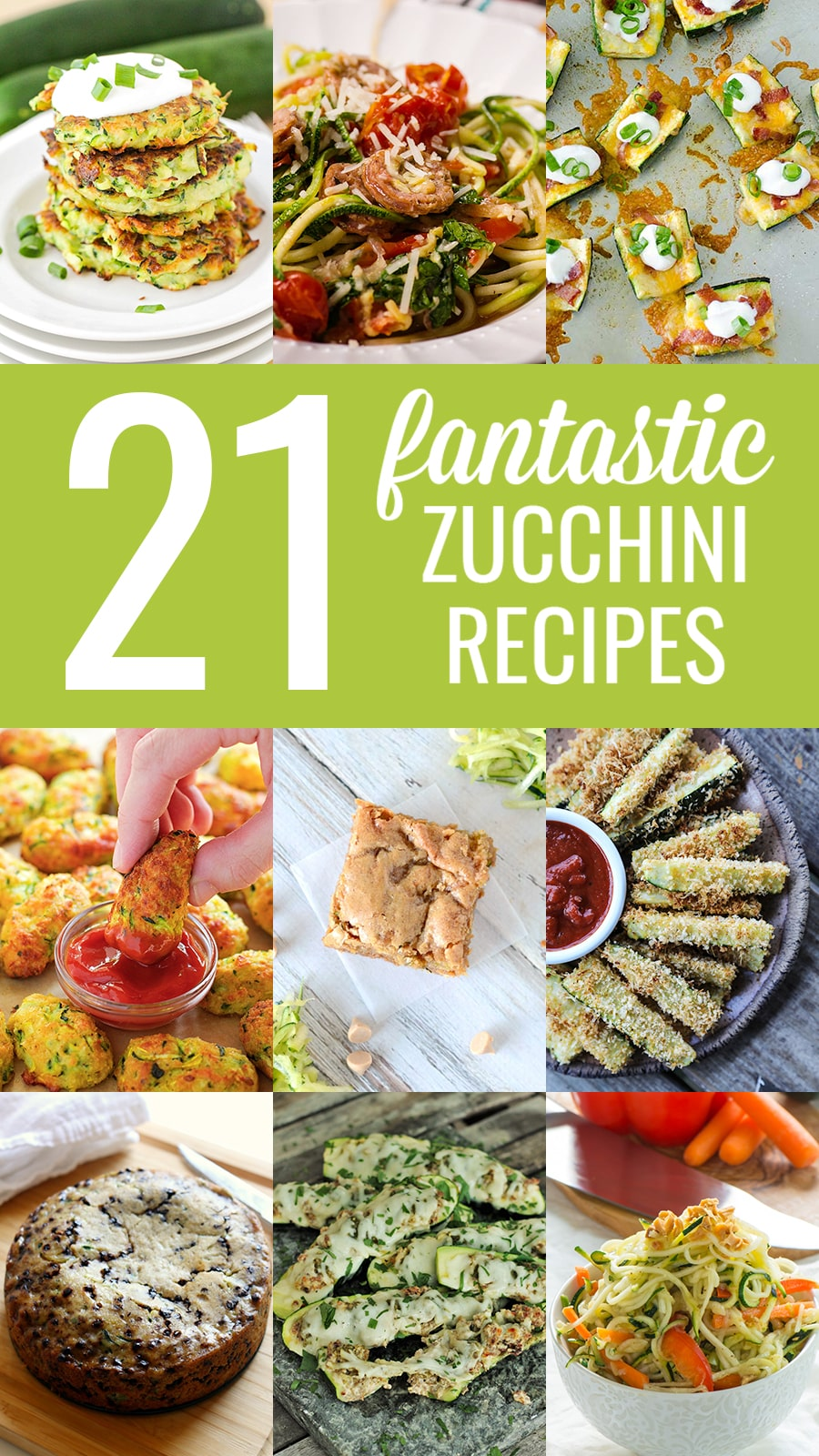 collection of 21 zucchini recipes