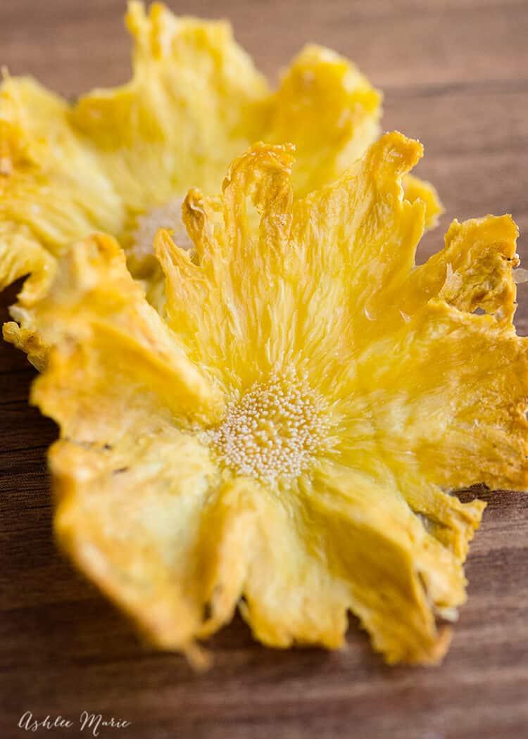 homemade pineapple flowers