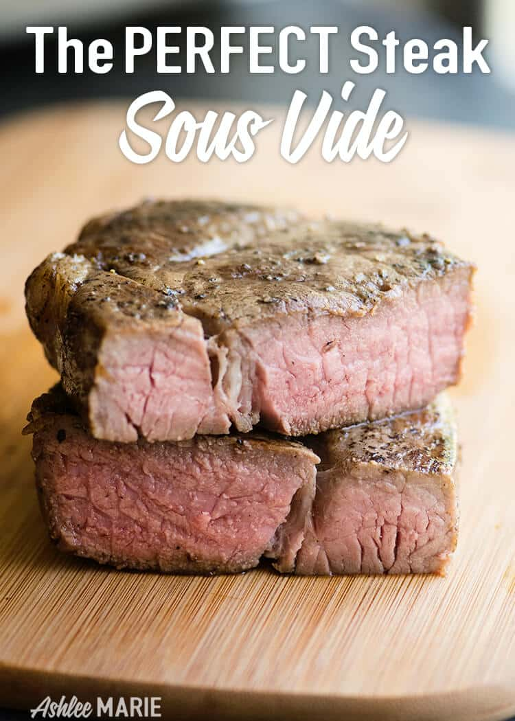 not only is sous vide the easiest way to get a steak but also the best steak you'll ever have