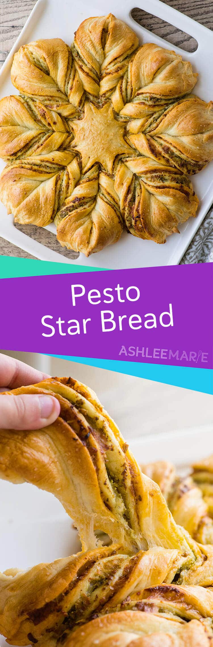 this pesto star braid is as delicious as it is lovely