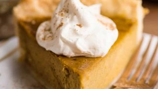 Homemade Pumpkin Pie - made from a fresh pumpkin