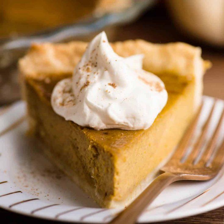 Homemade Pumpkin Pie - made from a fresh pumpkin
