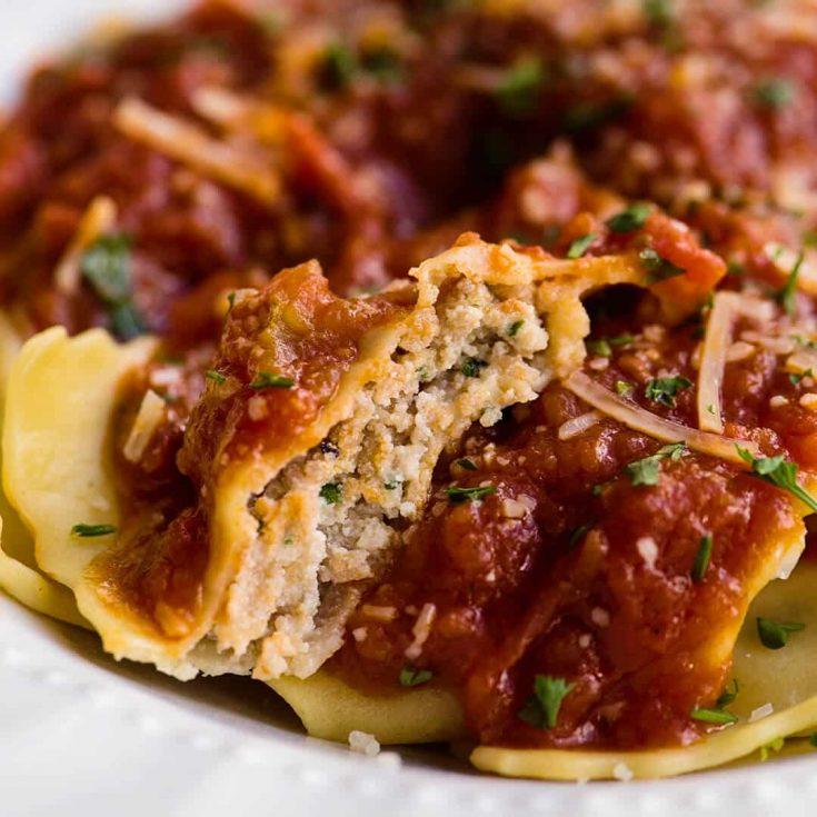 Homemade Italian Sausage and Cheese ravioli - video tutorial