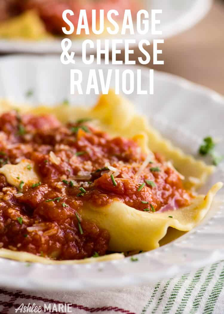 homemade sausage and cheese ravioli recipe
