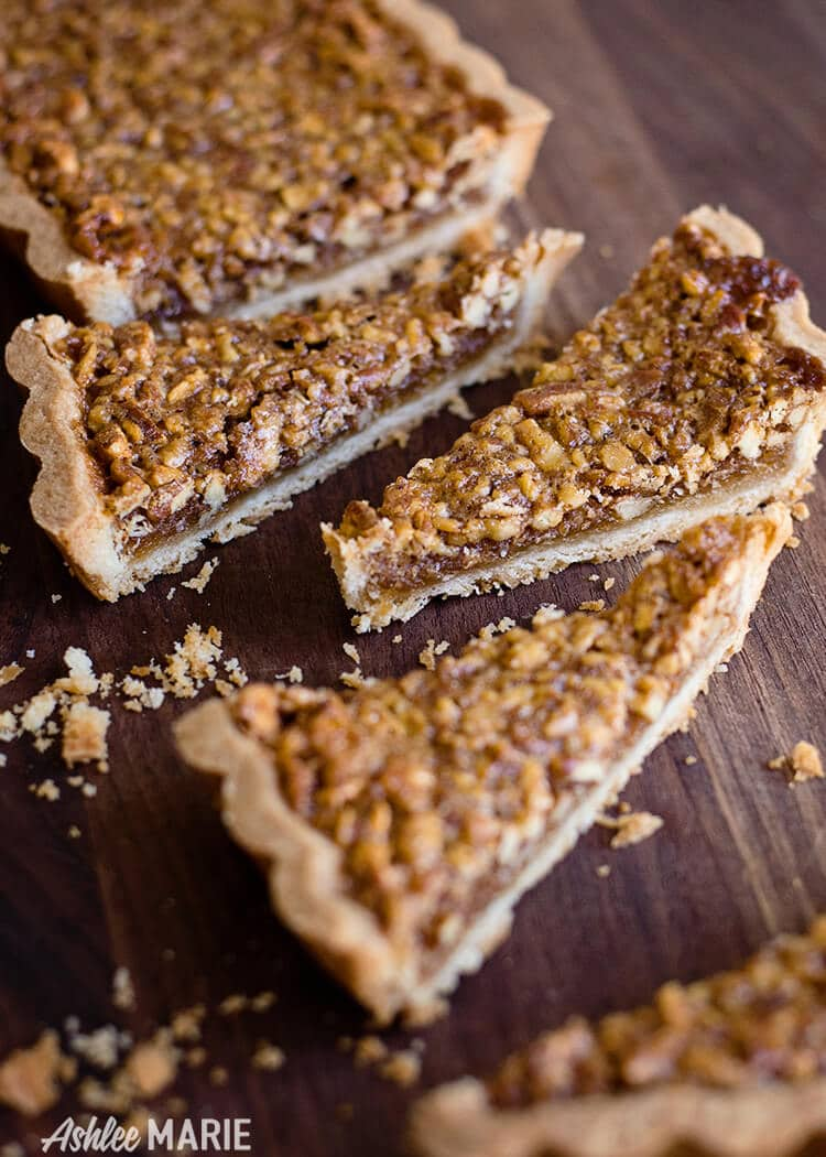 this pecan tart is easy to make and delicious