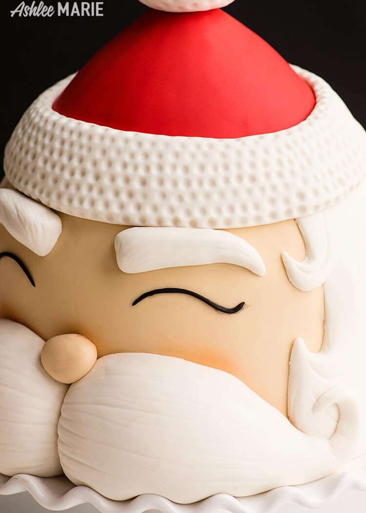 santa mustache - christmas cake