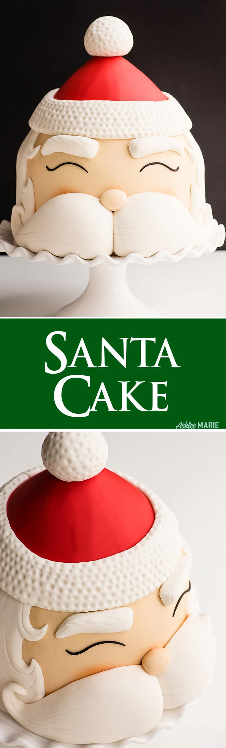 this easy to make Santa cake will delight everyone at your Christmas Party