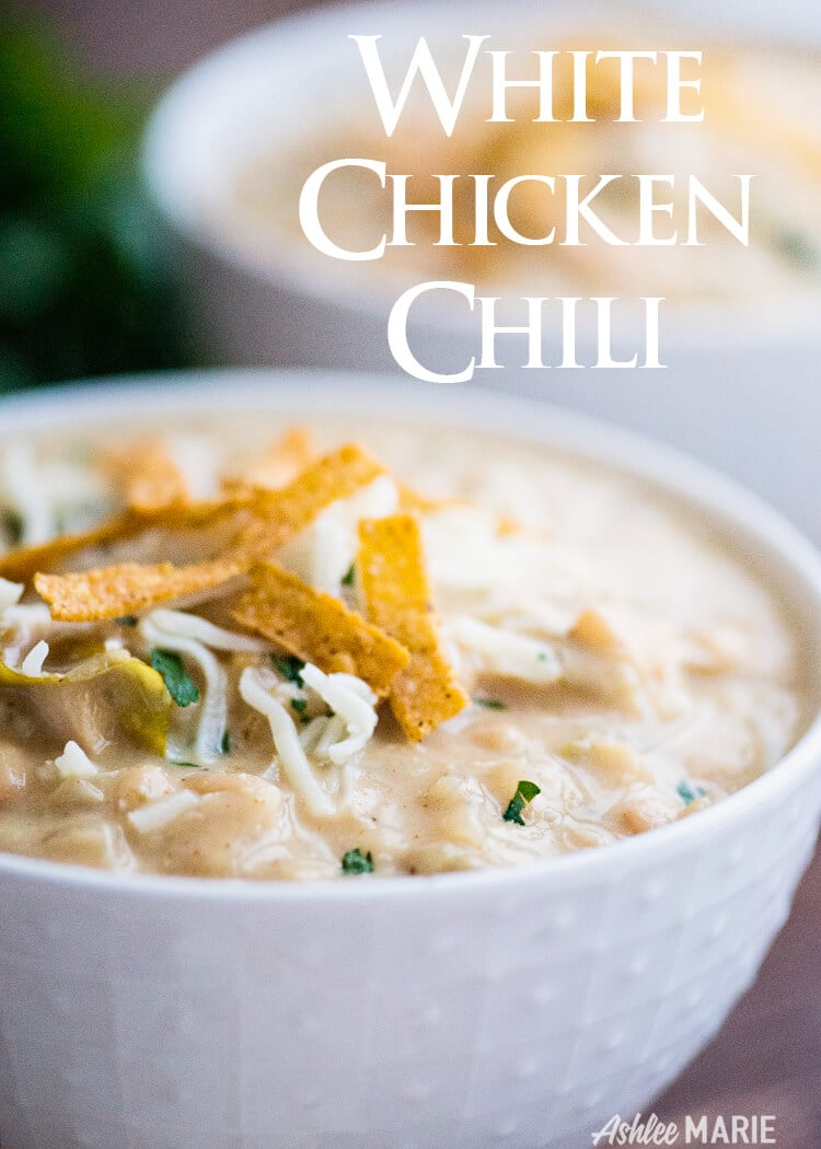 Creamy White Chicken Chili Recipe And Video Ashlee Marie Real