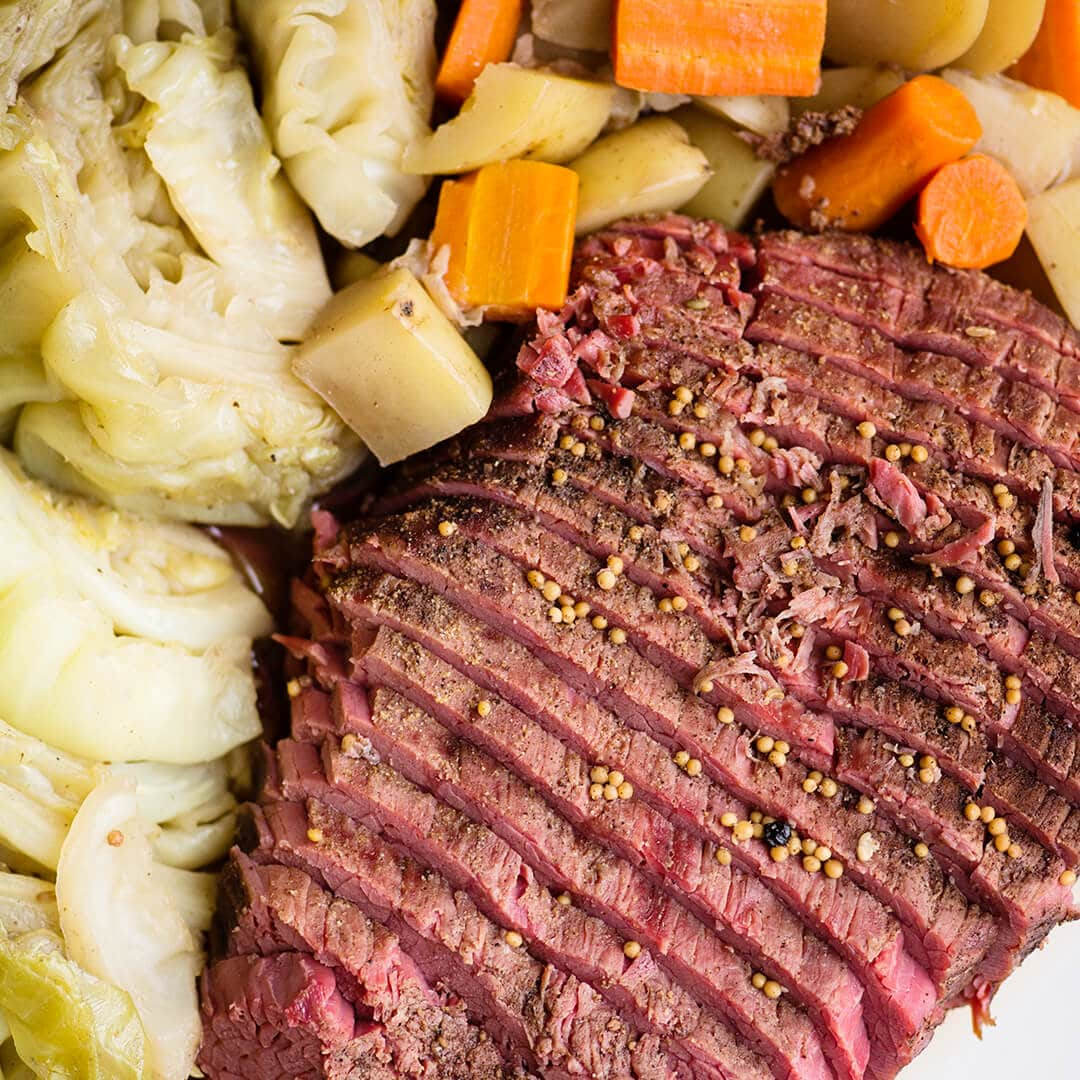 corned beef and cabbage - instant pot