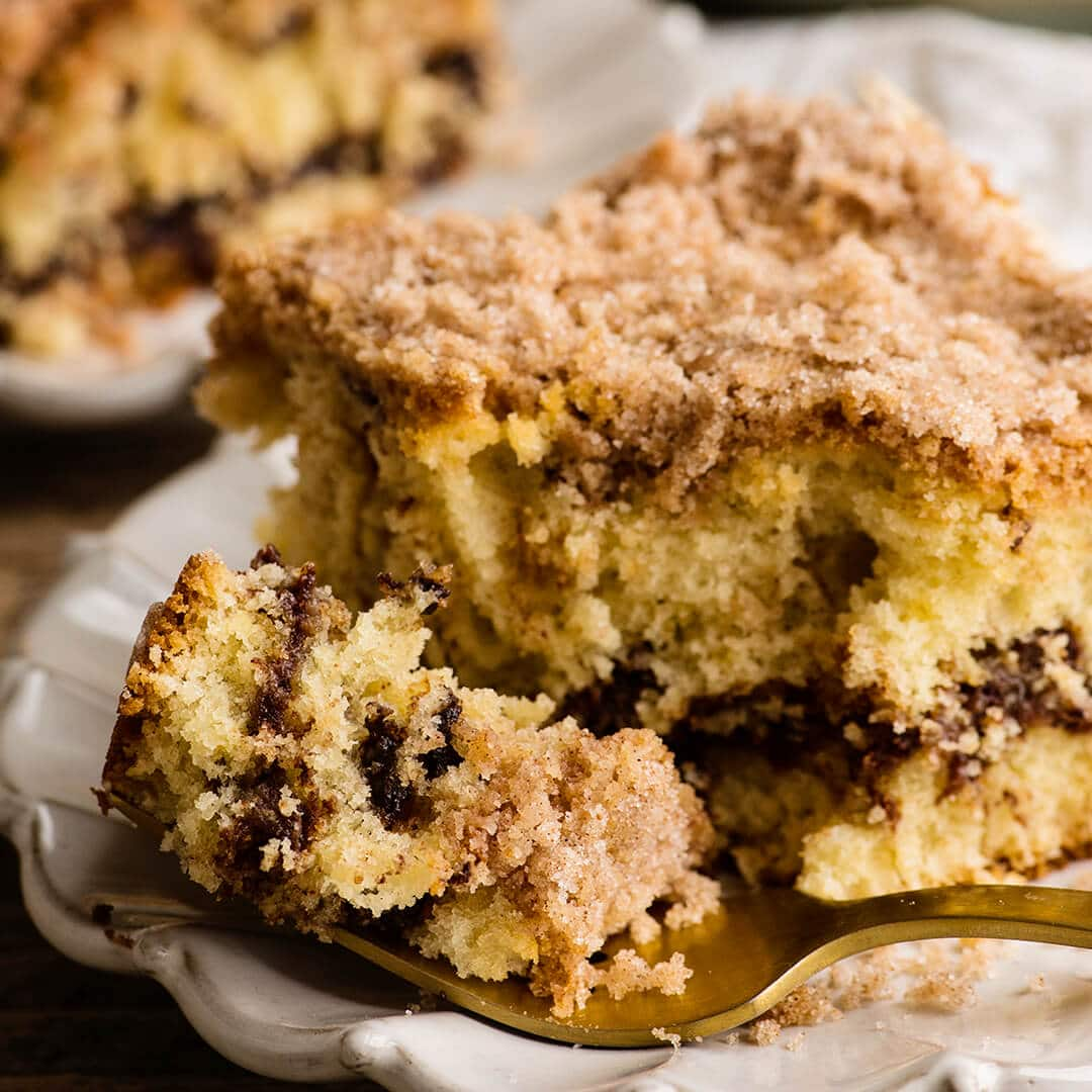 chocoate chip sour cream coffee cake recipe