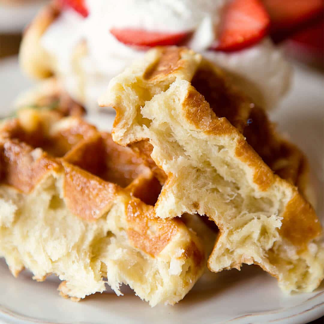 traditional belgium liege waffle recipe