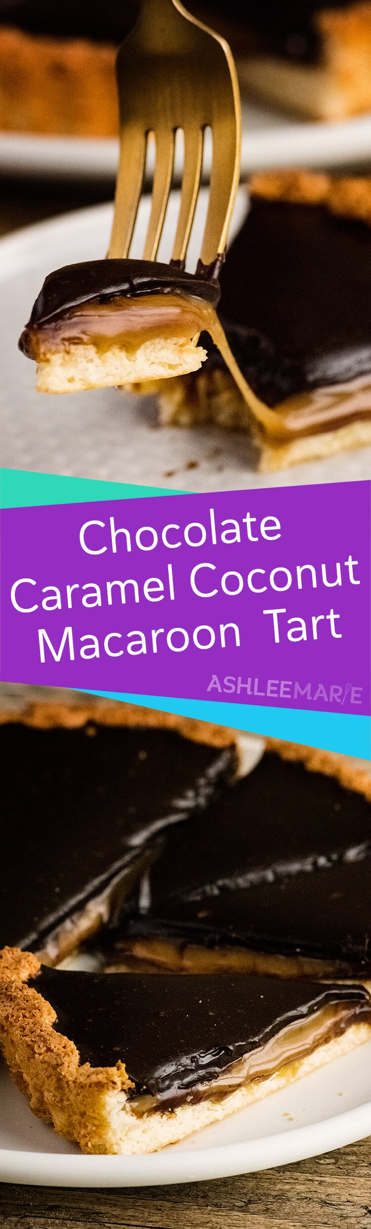 Chocolate caramel coconut macaroon tart recipe