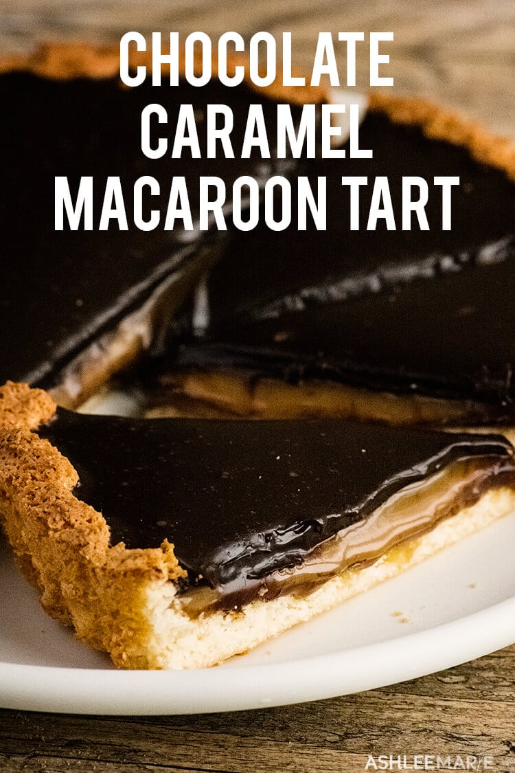 caramel chocolate macaroon tart recipe
