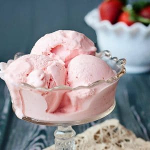 creamy strawberry ice cream