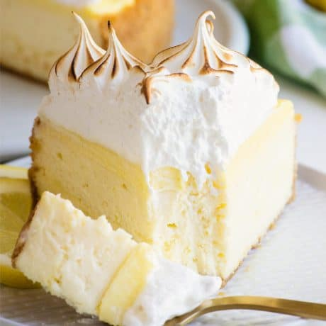 creamy and decadent lemon meringue cheesecake recipe