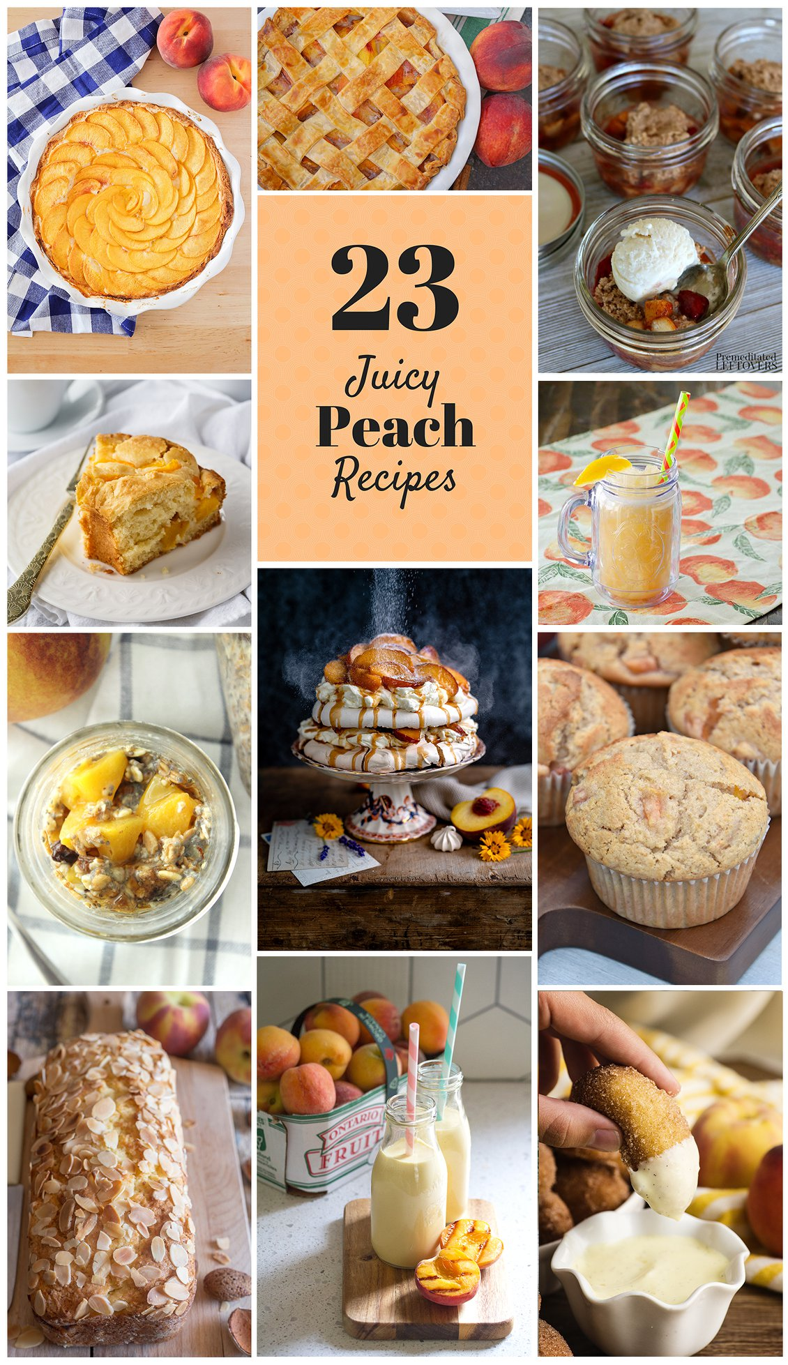 twenty three juicy peach recipes