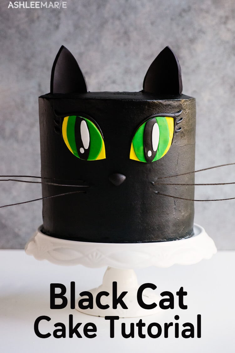 black cat cake video tutorial - black buttercream