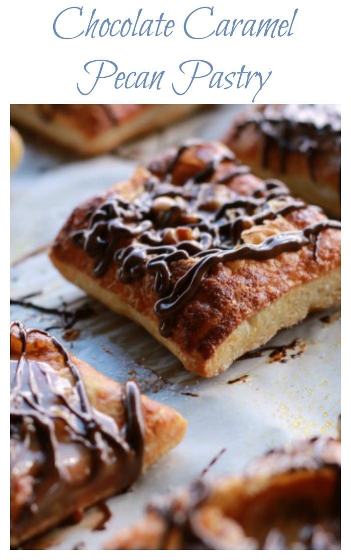 Chocolate Caramel Pecan Pastry
