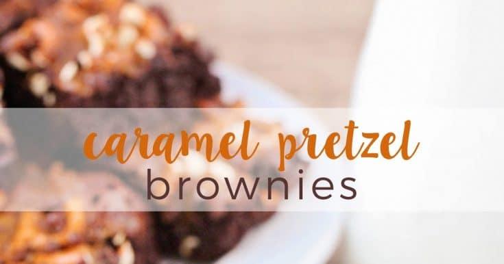 Caramel Pretzel Brownies + 21 Amazing Caramel Recipes