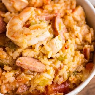 chicken, sausage and shrimp instant pot jamabalay