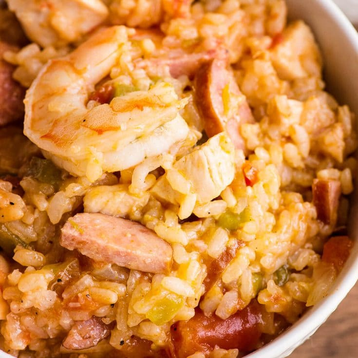 Instant Pot Chicken and Sausage Jambalaya with Shrimp