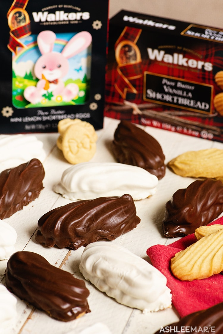 chocolate marshmallow shortbread cookies