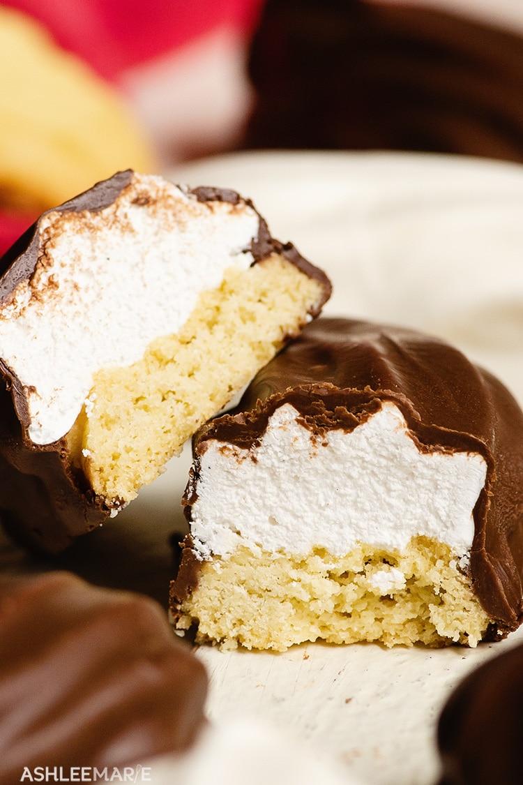 chocolate vanilla bean marshmallow cookie recipe