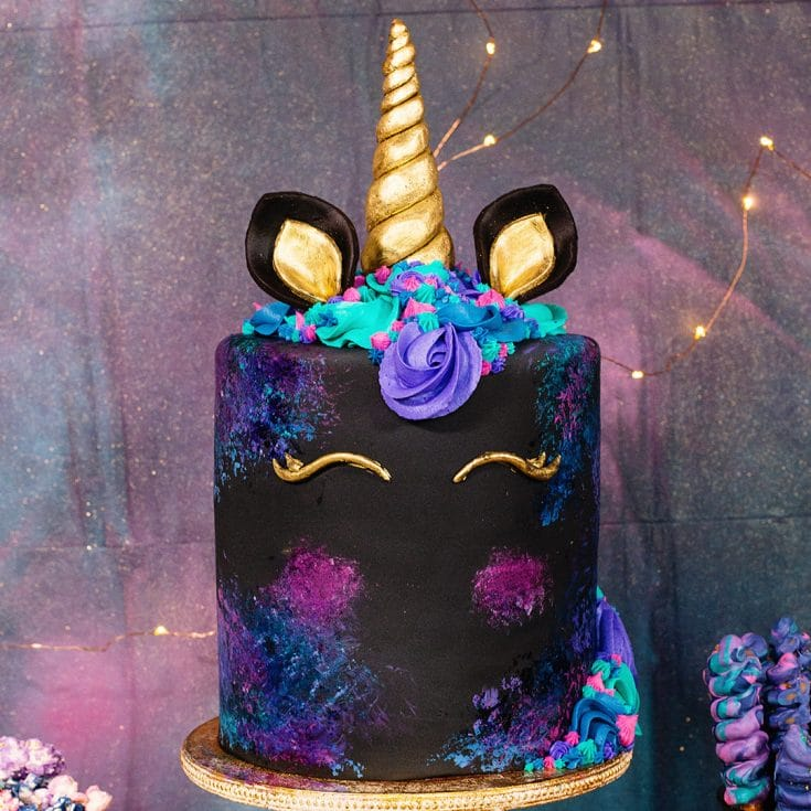 How to make a Galaxy Unicorn Cake - Decorating Video Tutorial