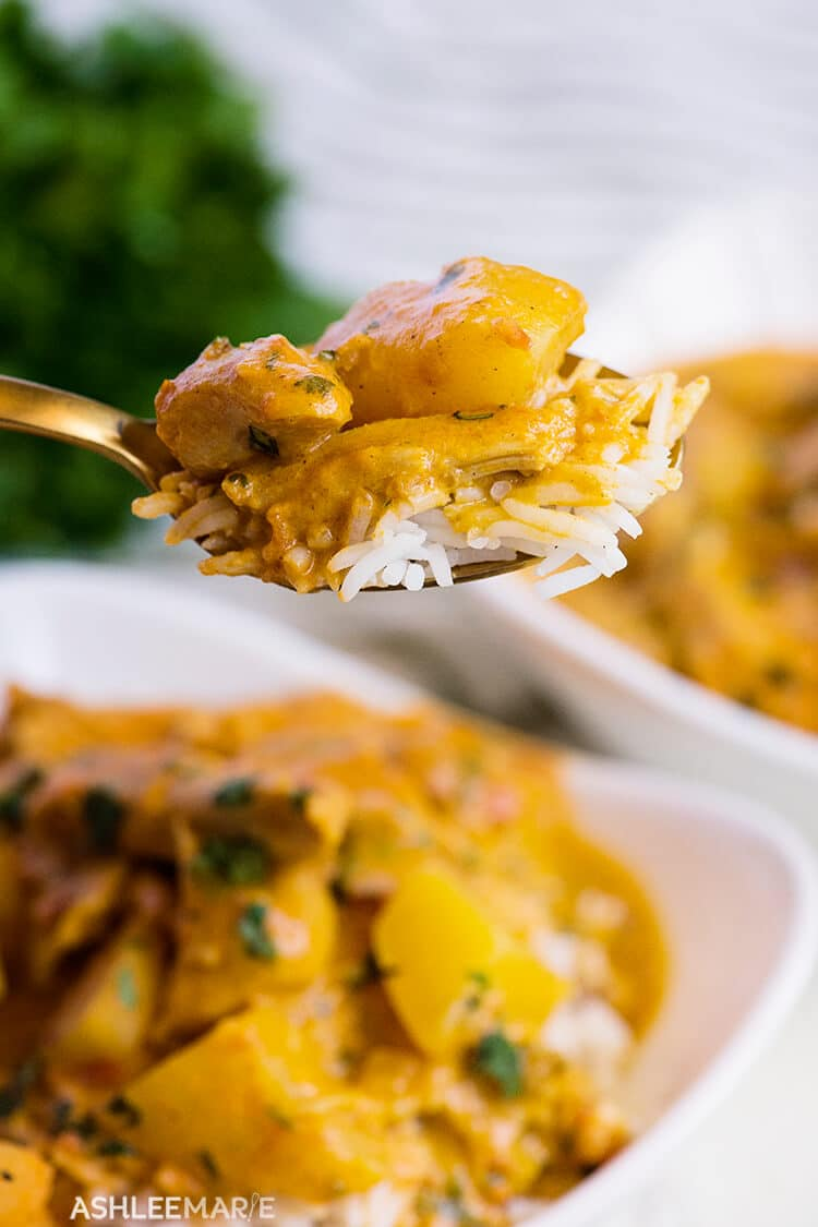 instant pot chicken recipes - coconut chicken curry recipe