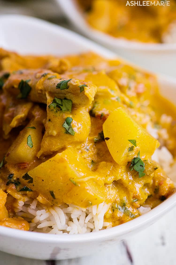 instant pot recipes - coconut chicken curry