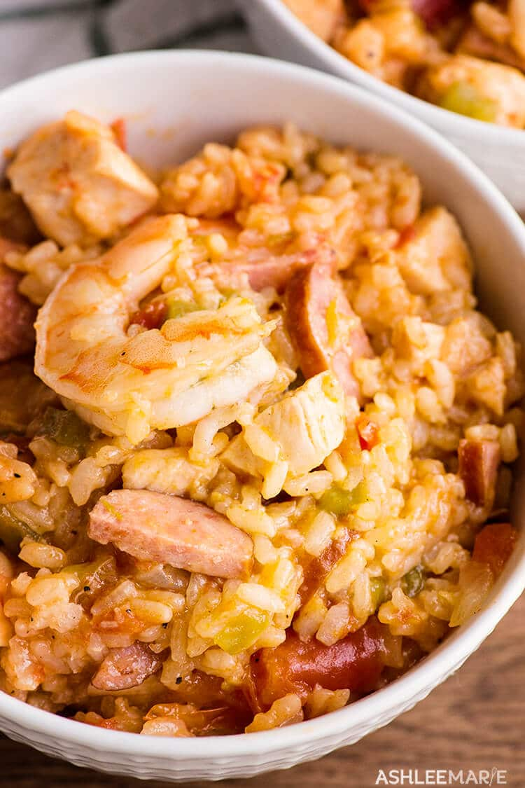 pressure cooker chicken sausage and shrimp jambalaya