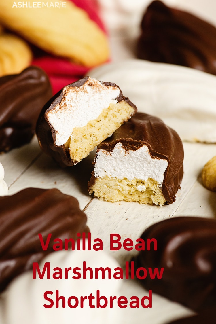 vanilla bean marshmallow shortbread cookies