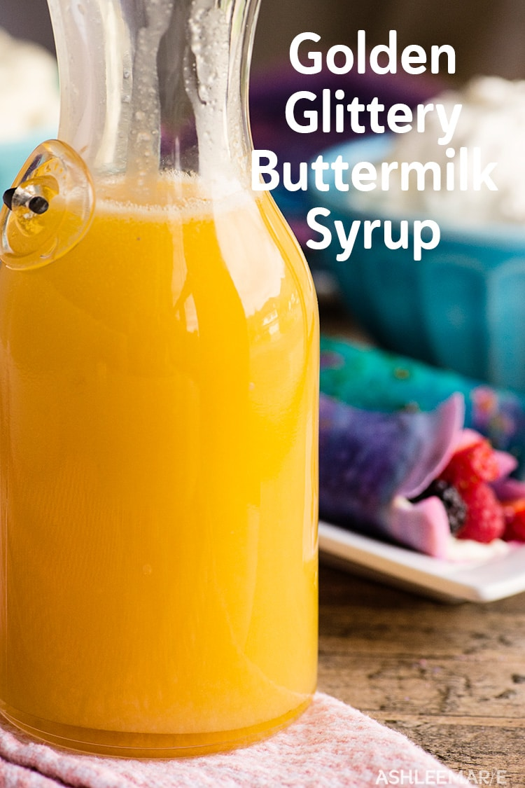 Buttermilk Gold Glitter Syrup recipe