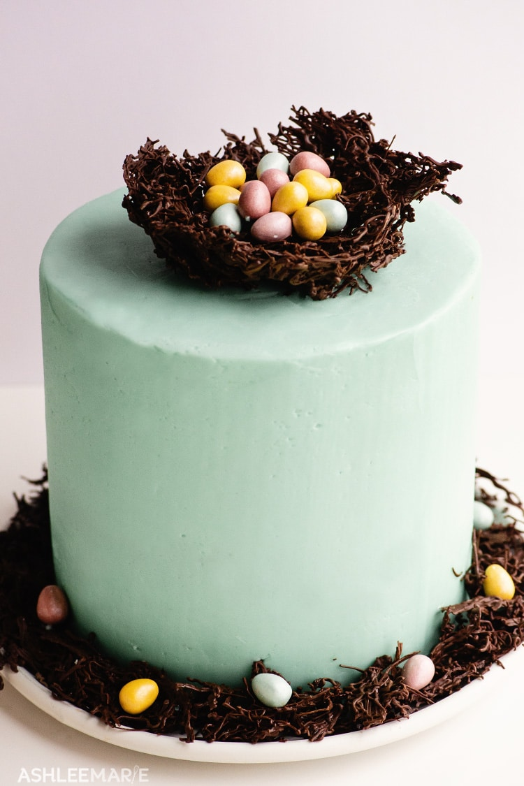 easter egg chocolate nest cake