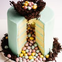 surprise inside easter egg pinata cake
