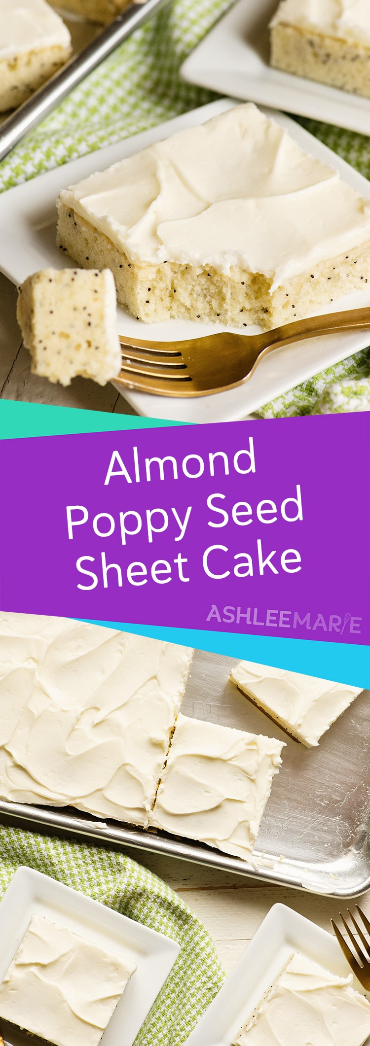 easy almond poppy seed sheet cake