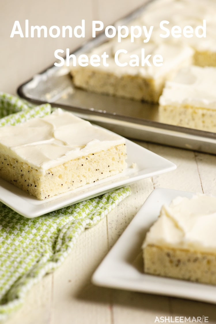 almond poppy seed sheet cake recipe