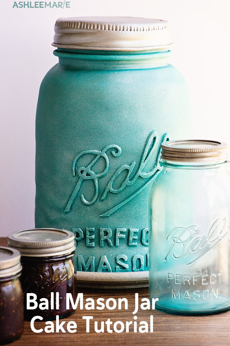 ball mason jar cake tutorial with chocolate raspberry jam recipe