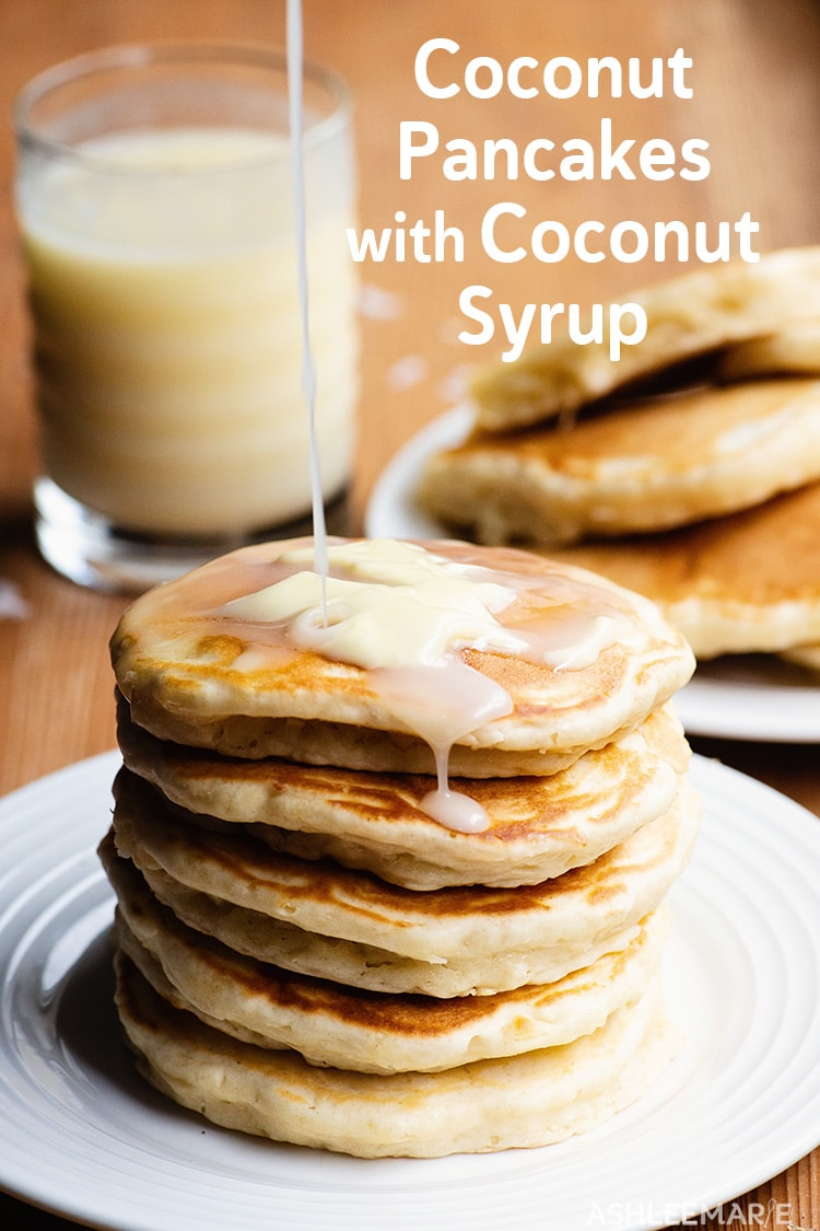 coconut pancakes with coconut syrup recipes