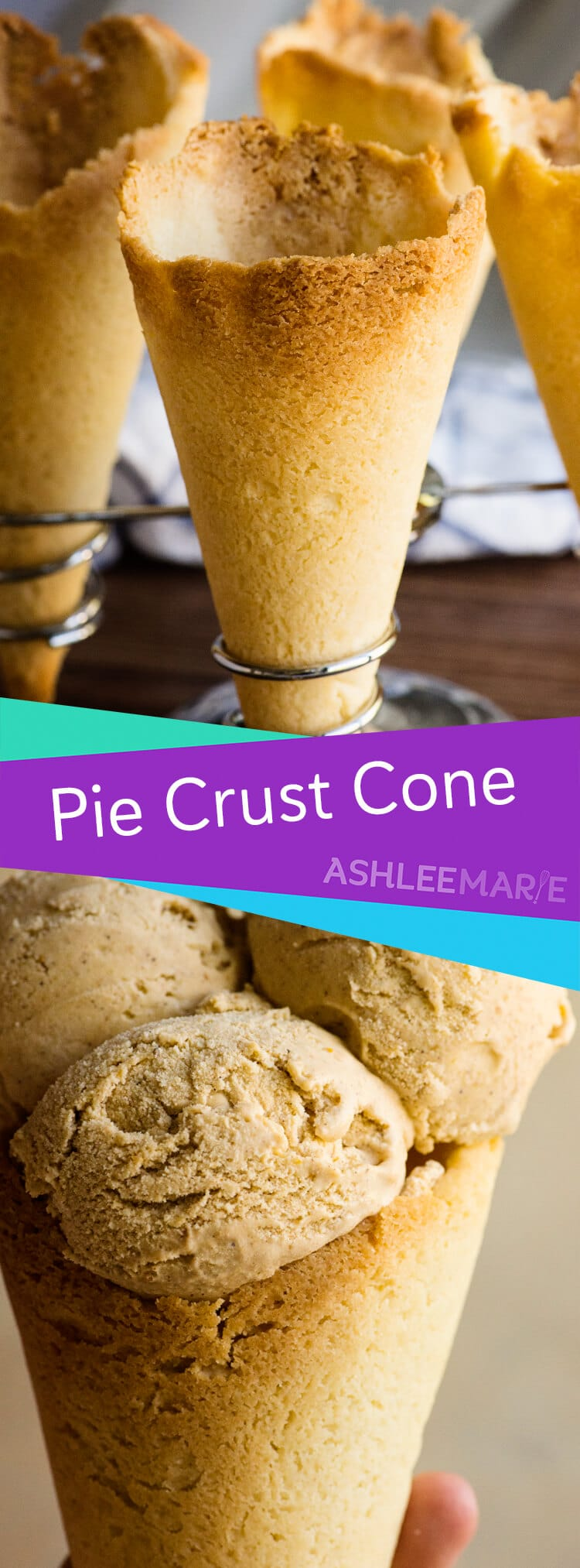 pie crust cone recipe and video