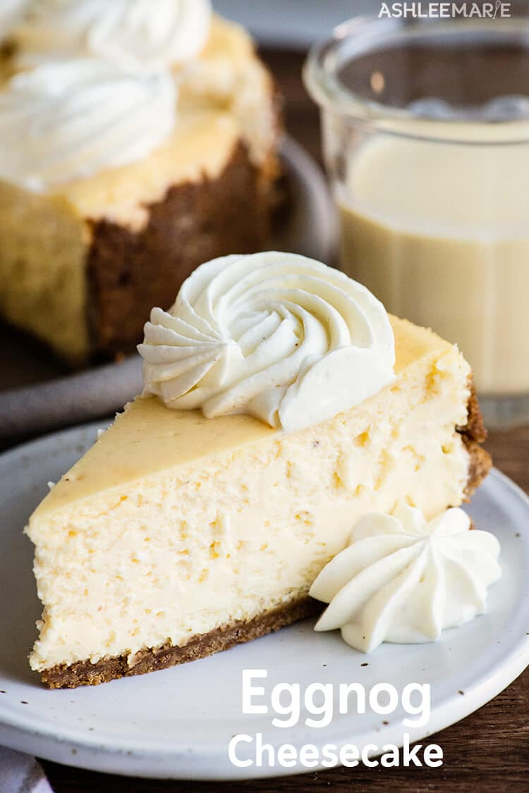 eggnog-flavored cheesecake