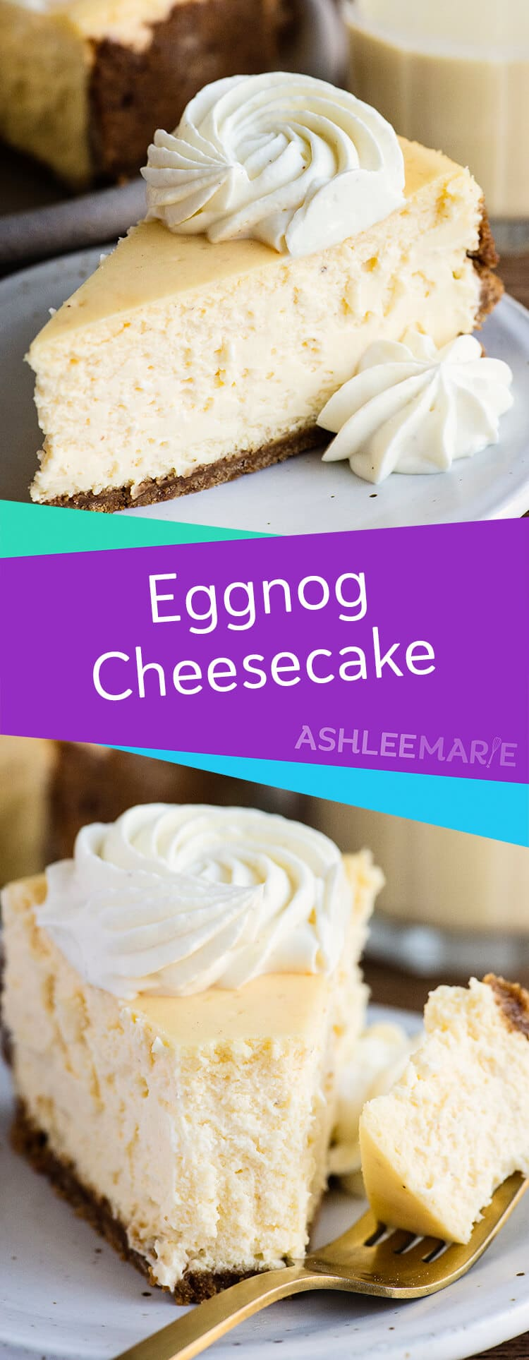 homemade eggnog cheesecake