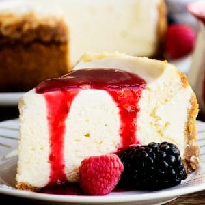 instant pot cheesecake berry coulis
