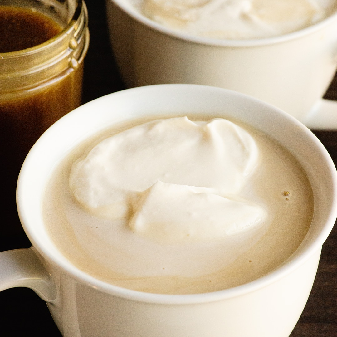 homemade warm butterbeern and whipped topping