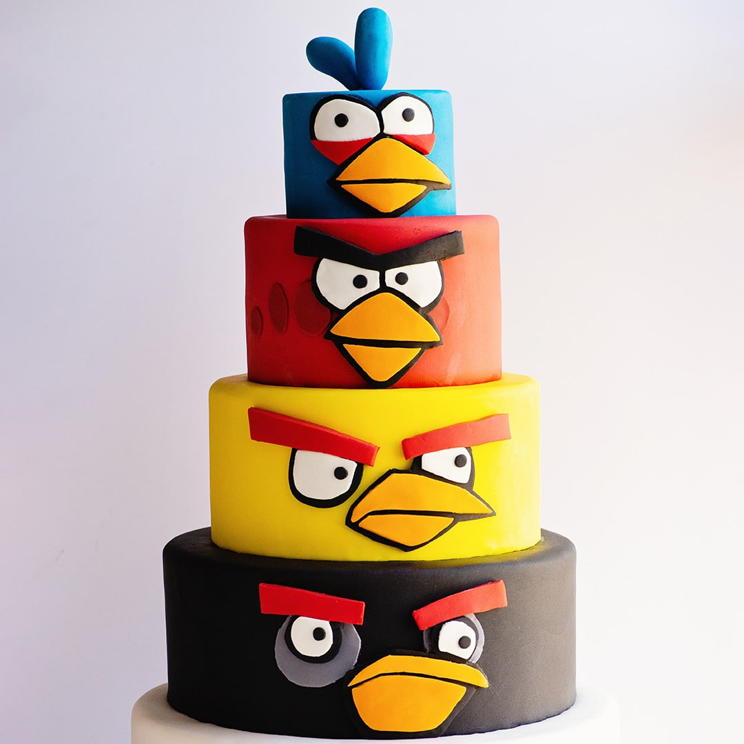 angry birds cake video tutorial